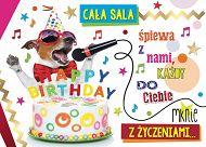 77da16a6fdbb82 Karnet 3D - Happy Birthday cała sala śpiewa z nami, każdy do Ciebie mknie z