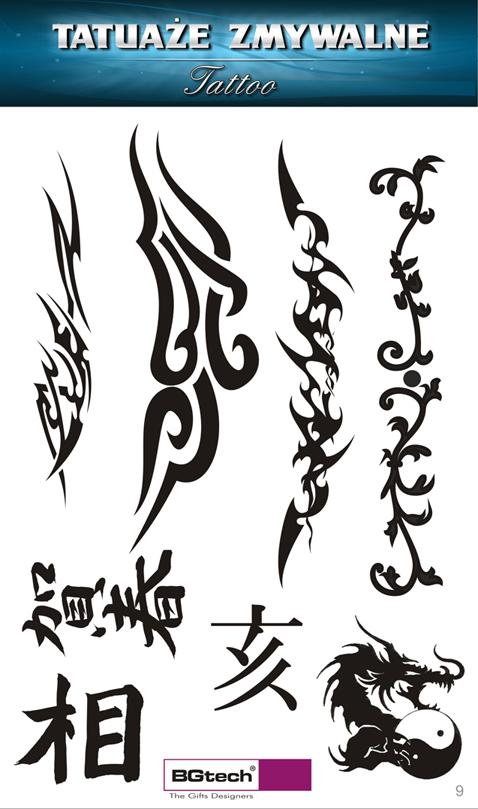 Tatuaże Zmywalne