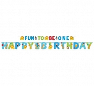 Baner niebieski - Fun to be one Happy 1 burthday