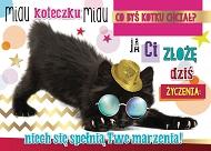 1b03bd1e15a298 Karnet 3D - Miau koteczku miau co byś kotku chciał? Ja Ci złożę dziś  życzenia
