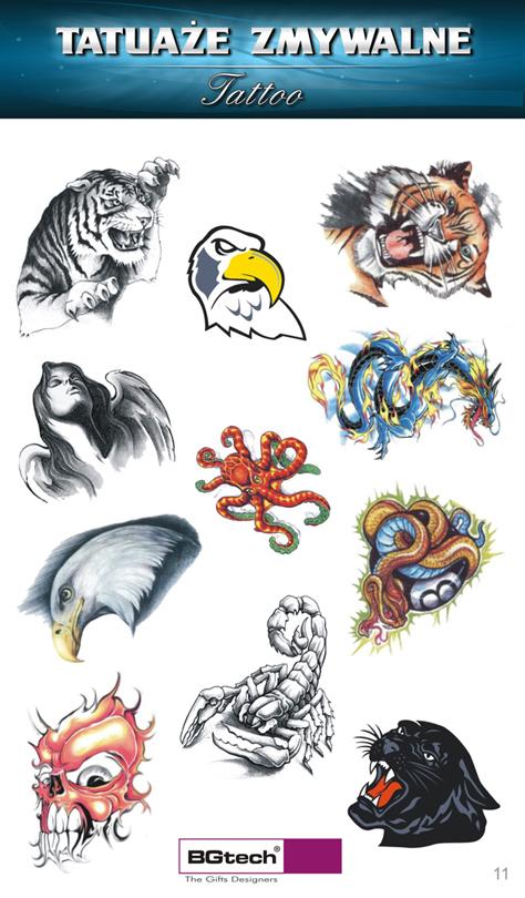 Tatuaże Zmywalne Zwierzęta