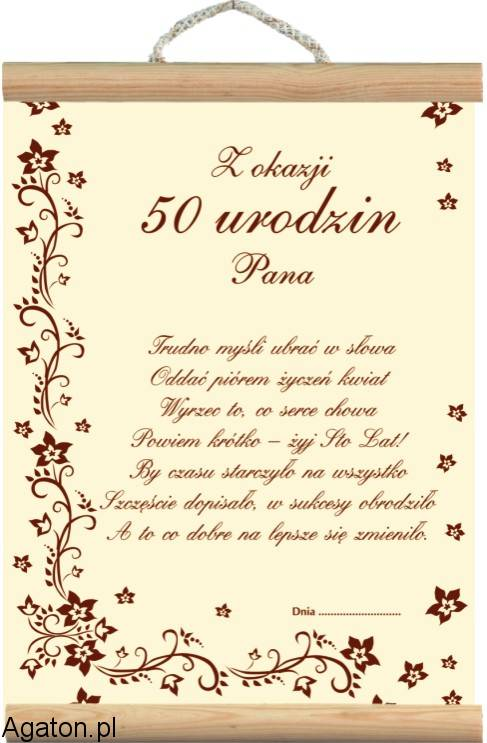 Dyplom 50 Urodziny Ii Dla Mężczyzny
