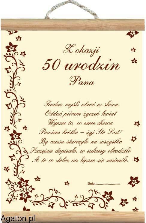 Dyplom 50 Urodziny Ii Dla Mezczyzny Smieszneprezenty Com Pl