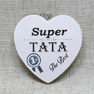 Tabliczka serce mini 2- Super Tata the best